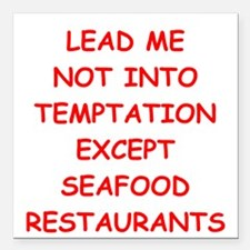 "seafood Square Car Magnet 3"" x 3"""