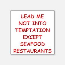 "seafood Square Sticker 3"" x 3"""