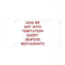 seafood Aluminum License Plate
