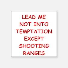 "trap shooting Square Sticker 3"" x 3"""