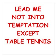 table tennis 5.25 x 5.25 Flat Cards