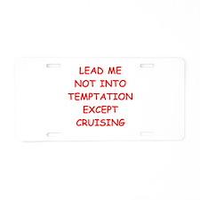cruising Aluminum License Plate