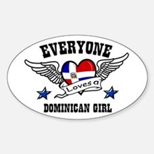 Dominican Girl Oval Decal