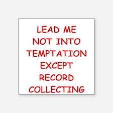 """records Square Sticker 3"""" x 3"""""""