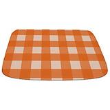 Orange gingham Memory Foam Bathmats