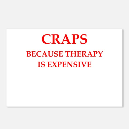 craps Postcards (Package of 8)