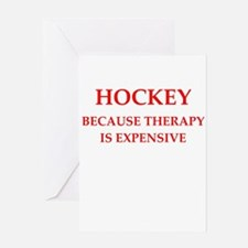 hockey Greeting Card