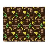 Cute monkey Fleece Blankets