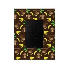 Monkeys Bananas Brown Picture Frame