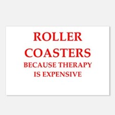 roller coaster Postcards (Package of 8)