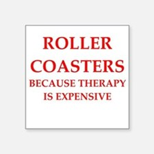 "roller coaster Square Sticker 3"" x 3"""
