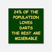 """darts Square Sticker 3"""" x 3"""""""