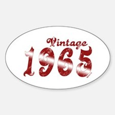 Vintage 1965 Oval Decal