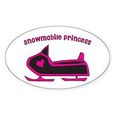 Snowmobile Princess Decal