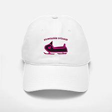 Snowmobile Princess Baseball Baseball Cap
