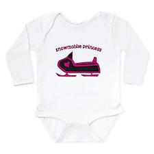 Snowmobile Princess Long Sleeve Infant Bodysuit