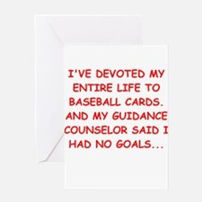 baseball cards Greeting Card