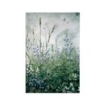 Lupines & Crows Rectangle Magnet