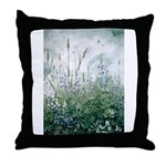 Lupines & Crows Throw Pillow