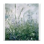 Lupines & Crows Tile Coaster