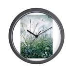 Lupines & Crows Wall Clock