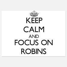 Keep Calm and focus on Robins Invitations