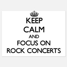 Keep Calm and focus on Rock Concerts Invitations