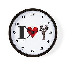 I Heart Lobster Wall Clock