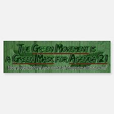 UN Agenda 21: The Green Mask Bumper Bumper Bumper Sticker