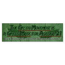 UN Agenda 21: The Green Mask Bumper Bumper Sticker