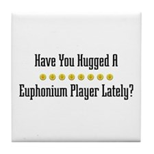 Hugged Euphonium Player Tile Coaster