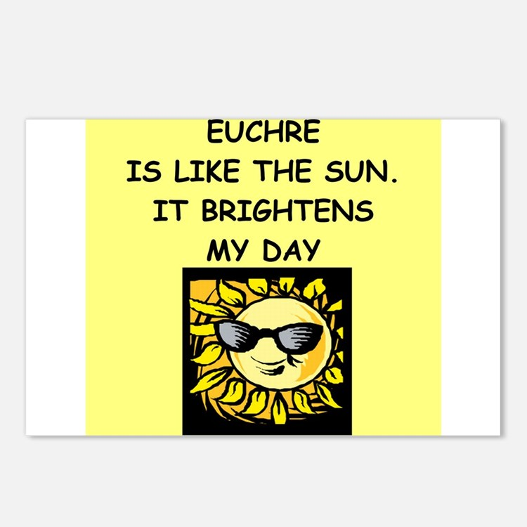 Funny Euchre Humor Postcards | Funny Euchre Humor Post Card Design
