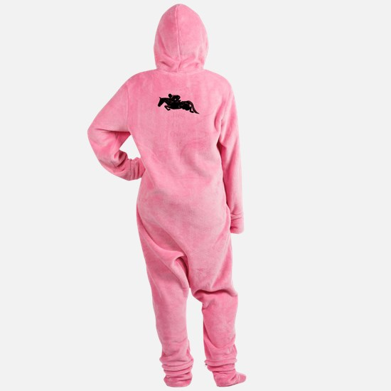 Just Get Over It Horse Jumper Footed Pajamas