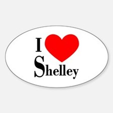 I Love Shelley Oval Decal