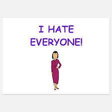 i hate everyone Invitations