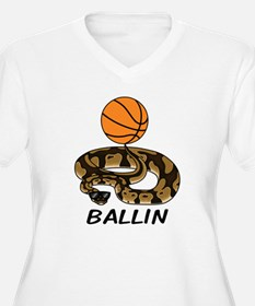 Ballin Women's V-Neck Plus Size T-Shirt