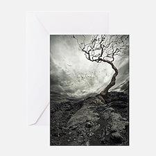 Dark Tree Greeting Cards