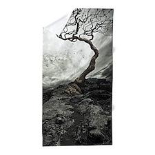 Dark Tree Beach Towel
