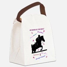 ilovehorsespastelssleeves.png Canvas Lunch Bag