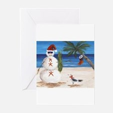 Funny Beach christmas Greeting Cards (Pk of 10)