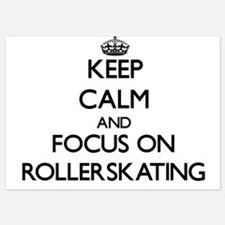 Keep Calm and focus on Rollerskating Invitations
