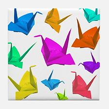 ColorfulCranes camara Tile Coaster