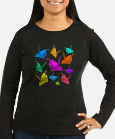 ColorfulCranes camara Women's LS Dark T-Shirt