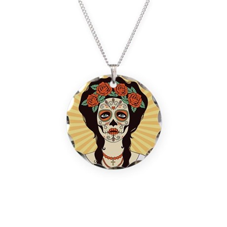 day of the dead necklace by fuzzychair