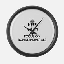 Keep Calm and focus on Roman Nume Large Wall Clock