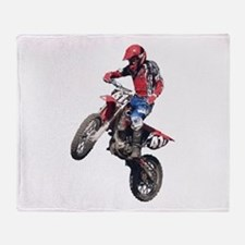Red Dirt Bike Throw Blanket
