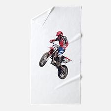 Red Dirt Bike Beach Towel