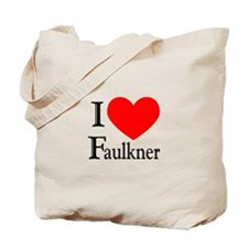 I Love Faulkner Tote Bag
