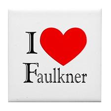 I Love Faulkner Tile Coaster