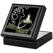 Black Cat Witch Keepsake Box